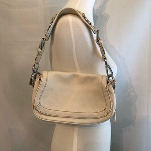Banana Republic white pebbles leather purse